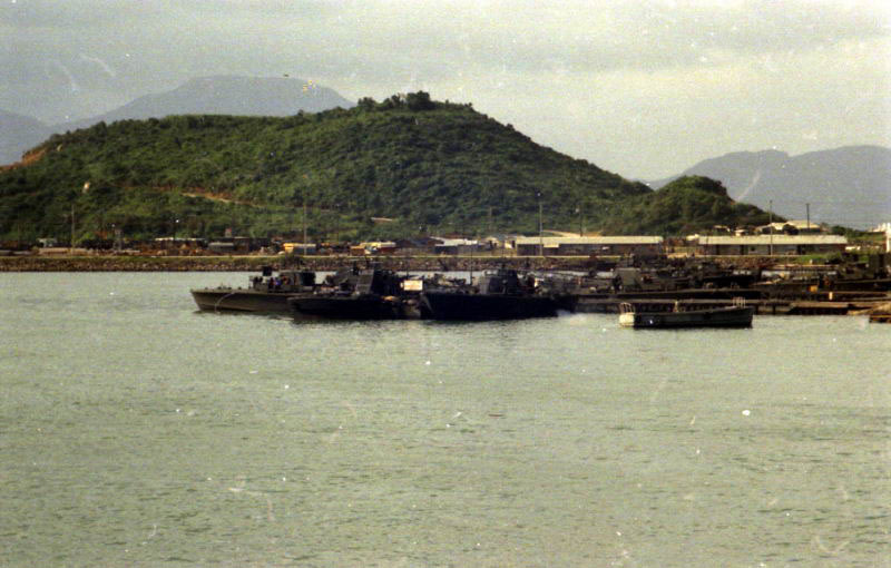 "PTF's at ""Lower Base"" pier, Danang, Vietnam"